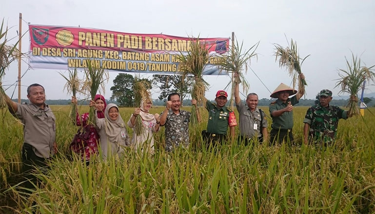 Motivation on Harvest and Sergap, Raises Spirit to Achieve Food Self-sufficiency